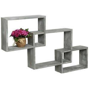 Rustic Interlocking Box Wall Shelves